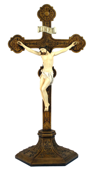 Ornate Crucifix Hand-Painted 22.5""
