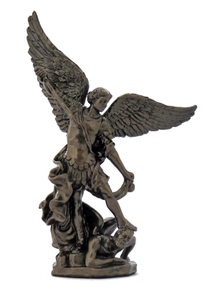 St. Michael Hand-Painted Cold-Cast Bronze 4""