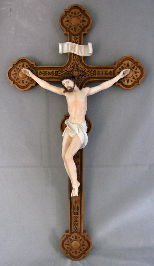Crucifix Hand-Painted 20""