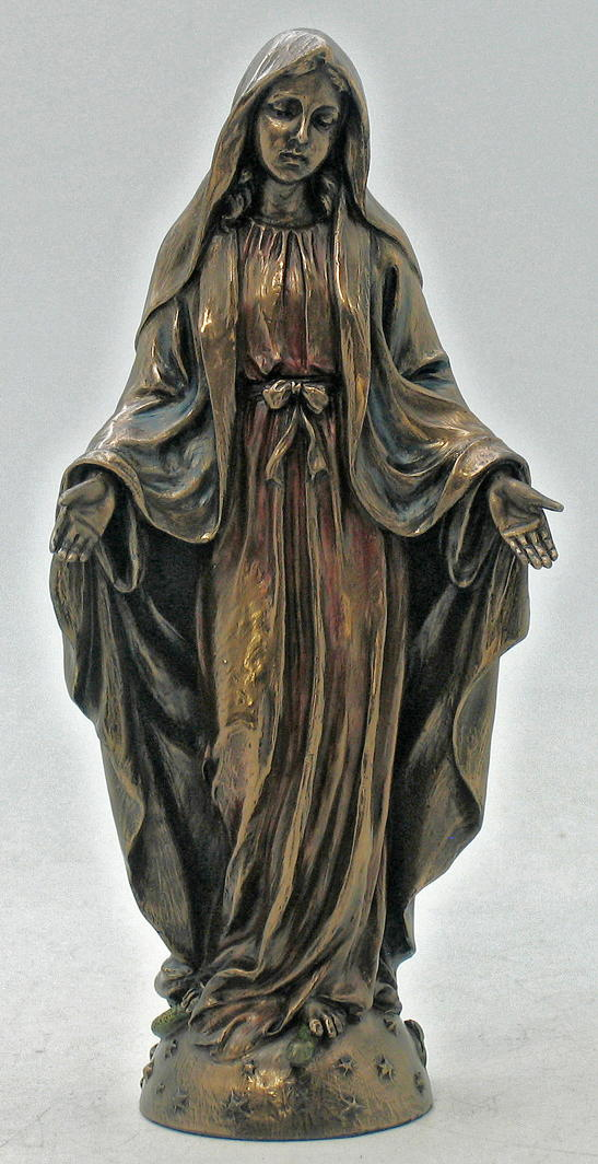 Lady Of Grace Hand-Painted Cold-Cast Bronze 8""