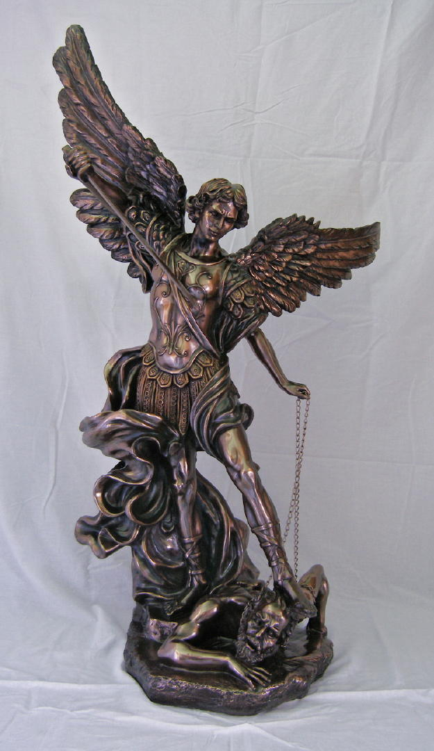 St. Michael Cold-Cast Bronze 45""
