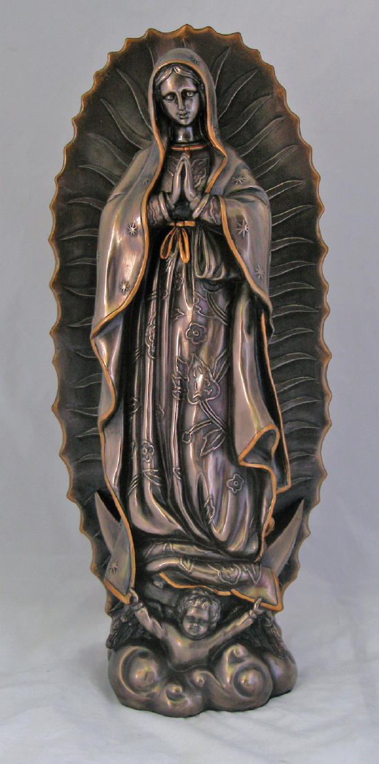 Our Lady Of Guadalupe Cold-Cast Bronze 19.5""