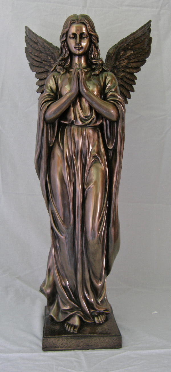 Praying Angel Cold-Cast Bronze 38""