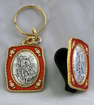 St. Michael Visor Clip And Key Chain