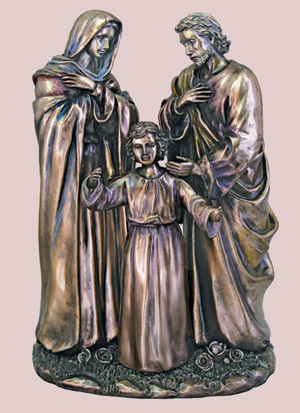 Holy Family In Cold Cast Bronze 8.75""
