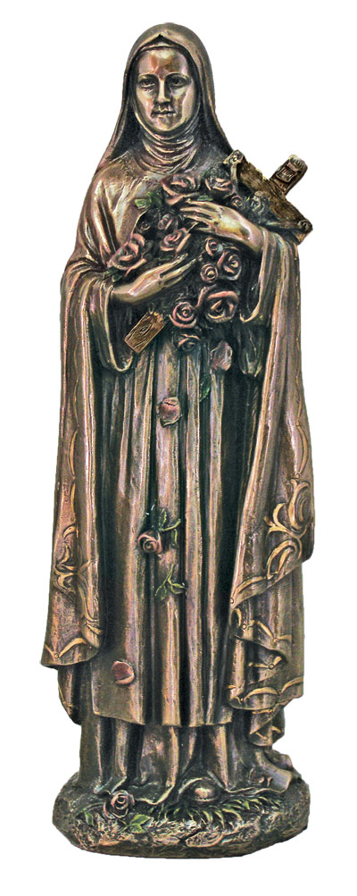 St. Theresa In Cold Cast Bronze 8""