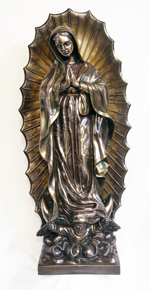 Our Lady Of Guadalupe Cold Cast Bronze Indoor/Outdoor 43""