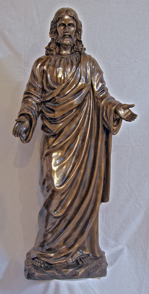 Welcoming Christ In Cold Cast Bronze Indoor/Outdoor 42""