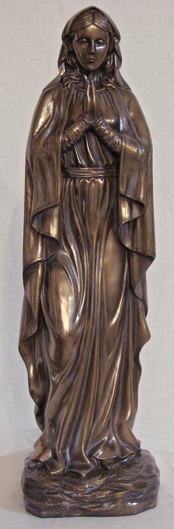 """Adoring Virgin Cold Cast Bronze Indoor/Outdoor 19"""""""