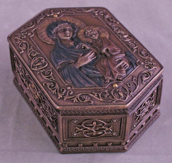 "Madonna And Child Icon Box 3.5X5"""