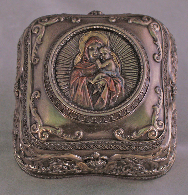 "Madonna And Child Box From The Veronse Collection 2.5"" Square"