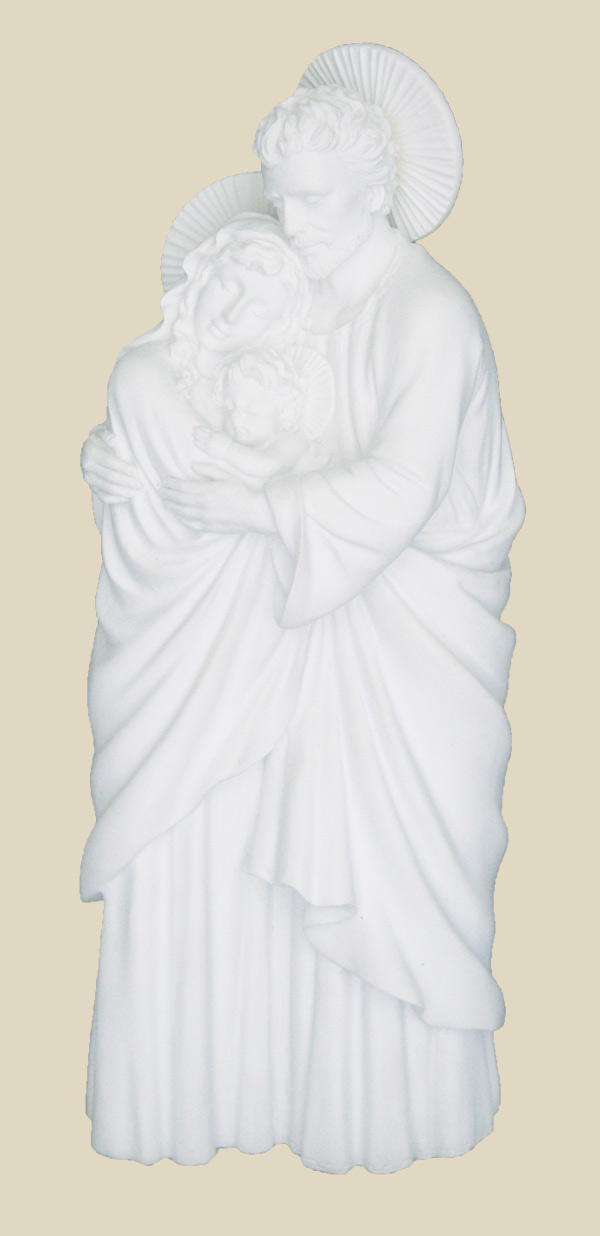 Holy Family In White 10""