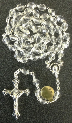 Crystal Rosary 6Mm Bead Separate Box 17.5""