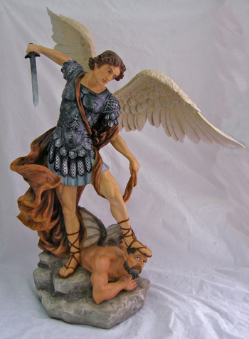 St. Michael- Hand-Painted In Full Color 29""