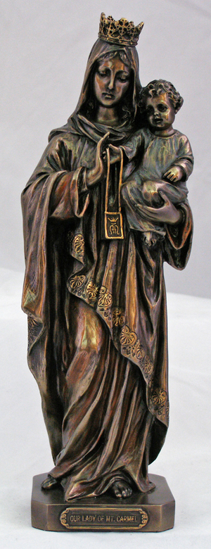 Ol Mt. Carmel Hand-Painted Cold-Cast Bronze 10""