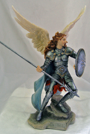Archangel Raphael Hand-Painted In Full Color 13.5""