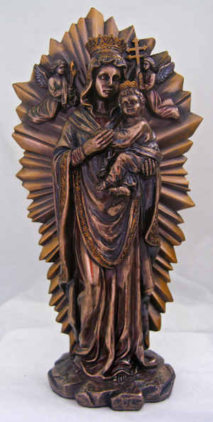 Ol Perpetual Help Lightly Hand-Painted Cold Cast Bronze 10""