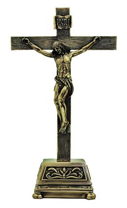 "Genesis Standing Crucifixcold Cast Bronze 10"""