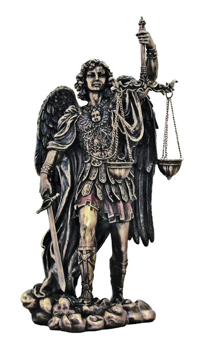 St.Michael-Scales/Justice Cold Cast Bronze 11""