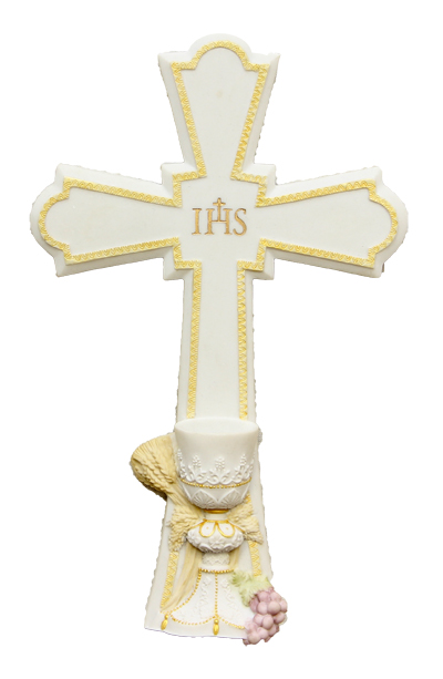 Communion Crosshand-Painted Pastels 7.25""