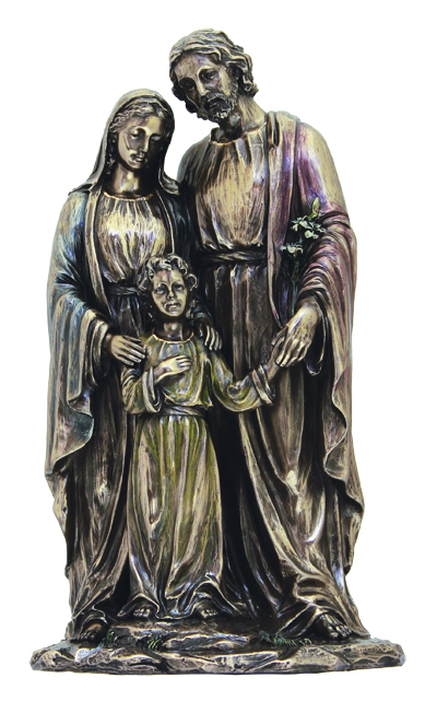 Holy Family 1Pclightly Hand-Painted Cold Cast Bronze 5X10""