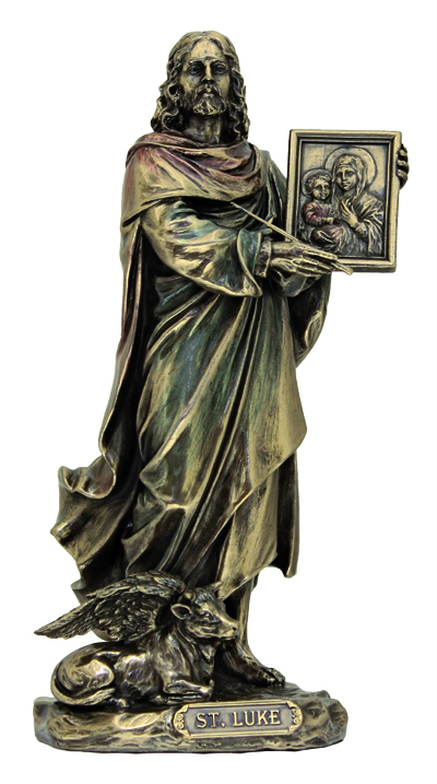 St.Lukelightly Hand-Painted Cold Cast Bronze 8""