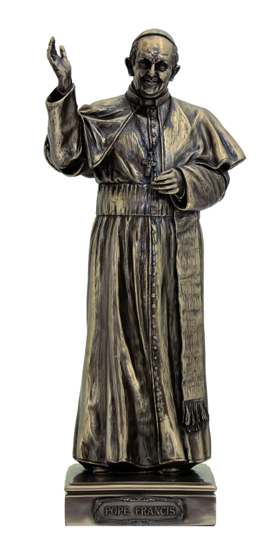 Pope Francis-Cold Cast Bronze 11""