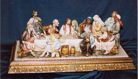 Capodimonte Last Supper By Luciano Cazzola Hand-Painted Porcelain 30X12X15""