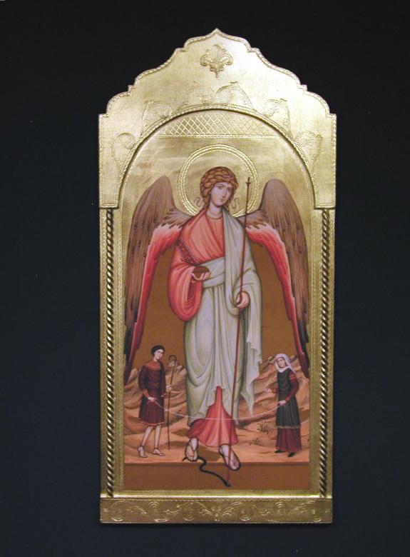 Archangel Raphael Florentine Plaque