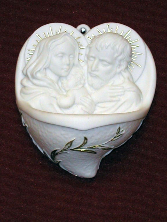 Holy Family Font White Alabaster 5""