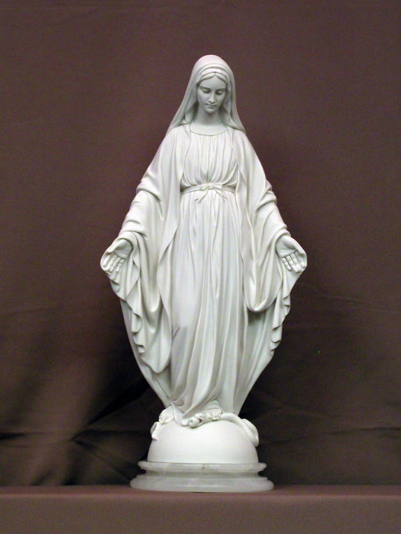 Lady Of Grace White Alabaster 16.5""