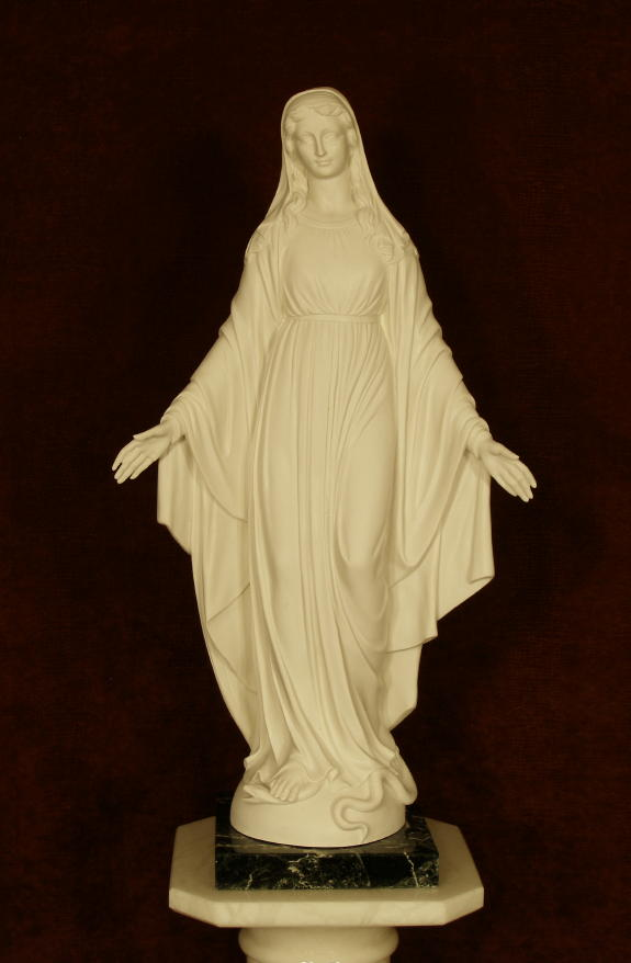 Lady Of Grace White Alabaster 24""