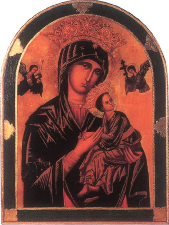 """Our Lady Of Perpetual Help Florentine Plaque 23X31"""""""