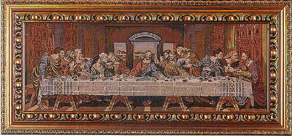 Last Supper Tapestry 35X16.5""