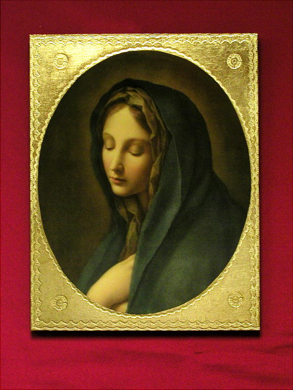 Our Lady Of The Sorrows By Carlos Dolci Florentine Plaque 9X12""
