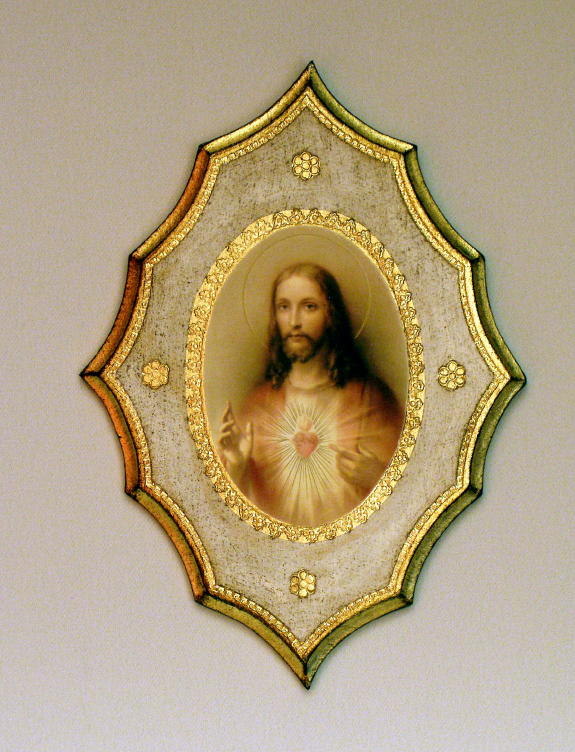Sacred Heart Of Jesus Florentine Plaque 7.5X10""