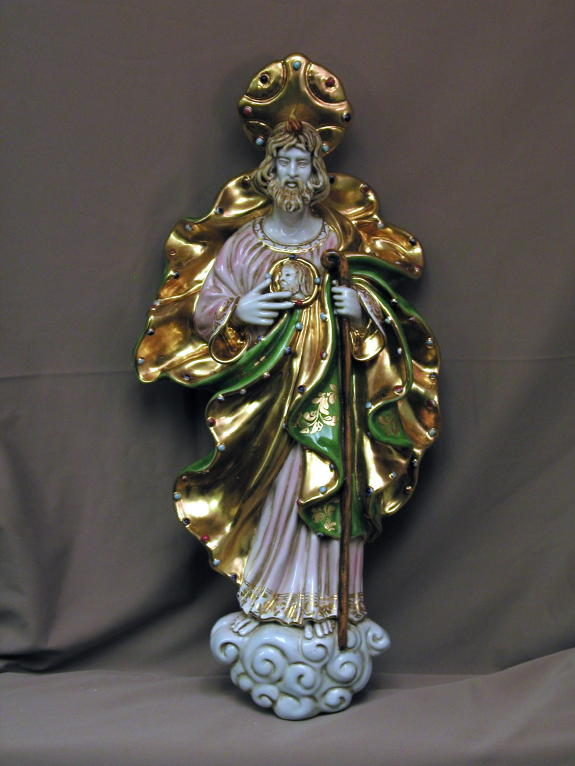 St. Jude Wall Plaque Hand-Painted Ceramic 21""