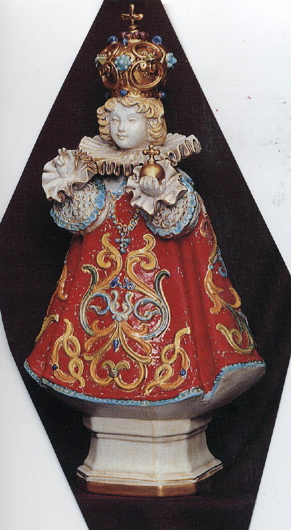 Infant Of Prague Hand-Painted Ceramic 18""
