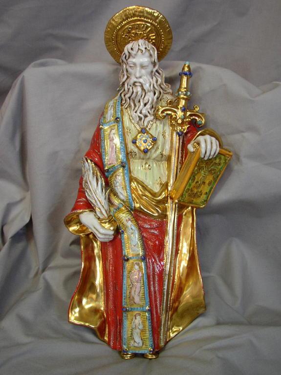 "St. Paul Hand-Painted Ceramic 15.5"""