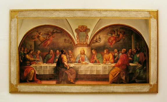 """Last Supper By M. Rosselli Florentine Plaque 31.5X17.75"""""""