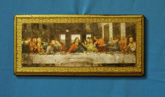 """Last Supper Florentine Plaque 11X5"""""""