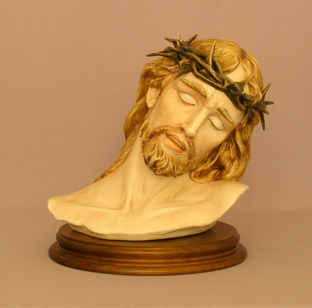 Ecce Homo - Suffering Christ In Capodimonte Porcelain 10""