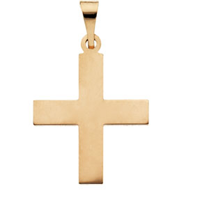 14K Yellow Gold Greek Cross Pendant