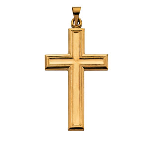 14K Yellow Gold Large Cross Pendant