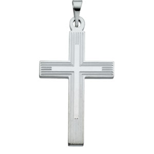 Sterling Silver Extra Heavy Cross Pendant with Chain