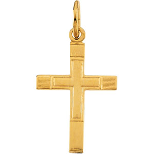 14K Yellow Gold Childs Cross Pendant