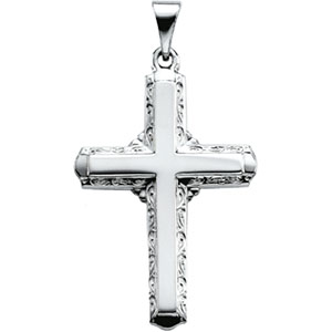 Platinum Cross Pendant