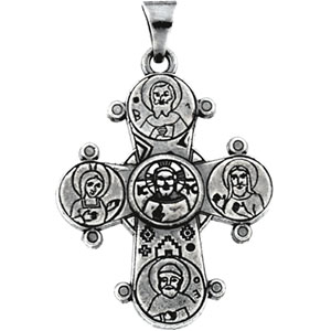 Sterling Silver Dagmar Cross Pendant with Chain