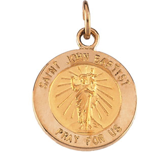 14K Yellow Gold St. John The Baptist Pendant