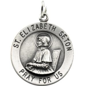 14K Yellow Gold St.Elizabeth Seton Pendant